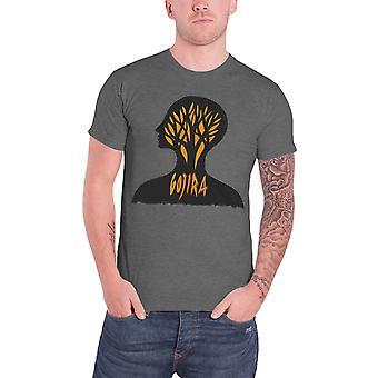 Gojira T Shirt Headcase band logo Official Mens New Grey