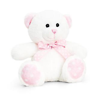 Kiel Spielzeug 15cm Baby weiß/rosa fleckig Bär Plüschtier