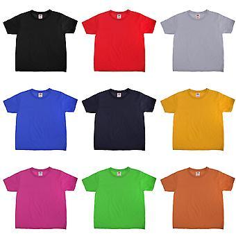 Fruit Of The Loom Kids Sofspun Short Sleeve T-Shirt