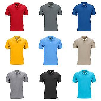 James and Nicholson Mens Workwear Polo Pocket Shirt