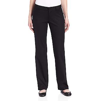Dickies Women's Relaxed Fit Straight Leg Twill Pant, Black, 16 Short