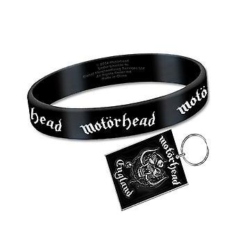 Motorhead Wristband and Keyring England Warpig Band Logo new official Gift set
