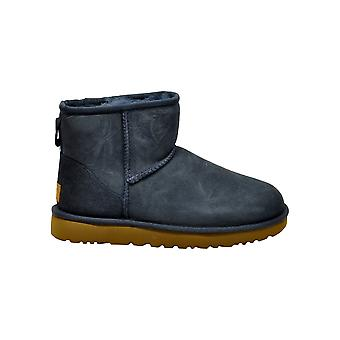 Ugg Miniclassiciiblue Women's Blue Suede Ankle Boots