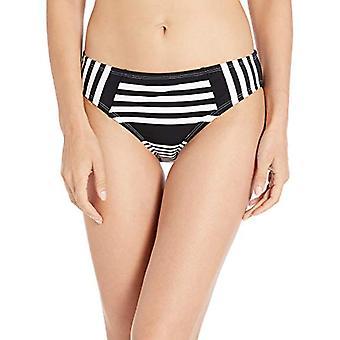 La Blanca Women's Hipster Bikini Swimsuit Bottom,, Black//Fine Line, Size 10.0