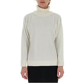 Laneus Mgd1009cc6panna Women's White Wool Sweater