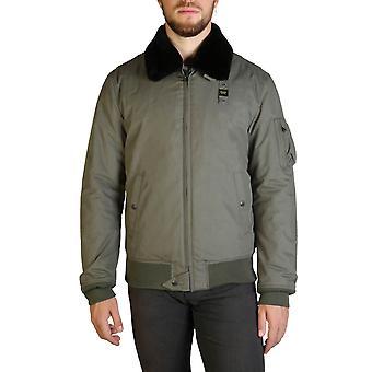 Blauer Original Men Fall/Winter Jacket - Green Color 35589
