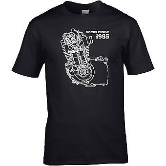 Honda Engine 1985 Klassisk - Motorsykkel Motorsykkel Biker - DTG Trykt T-skjorte