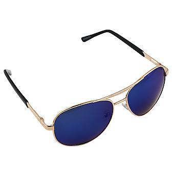 Men's sunglasses and Sunglasses Women's Polaroid Pilot - Gold/Blue with free brillenkokerS303_3