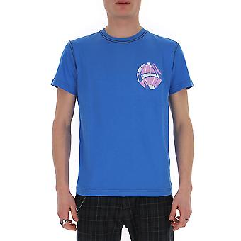 Kiko Kostadinov Kkss20ts01 Men's Blue Cotton T-shirt