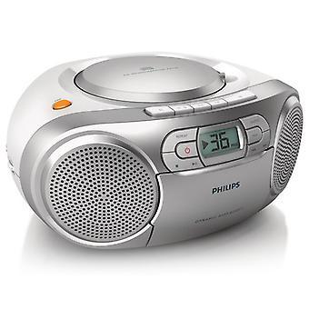 Radio cassette Philips AZ127/12 FM 2W Argent