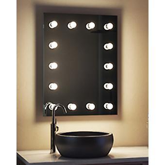 Diamond X Muurbevestiging Hollywood make-up spiegel & Dimmable LED k412CWbath