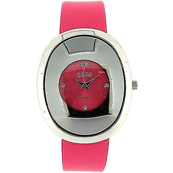 Zaza London Oval Shaped Pink Dial Ladies Fashion Watch LLB857
