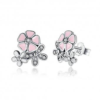 Silver Earrings Flower - 6499