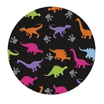 Kids Rug - Dino - Washable - Circle 75 cm