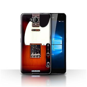 STUFF4 Case/Cover for Microsoft Lumia 650/Sunburst Electric/Guitar