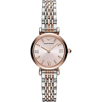 Armani Watches Ar11223 Rose Gold & Silver Two Tone Stainless Steel Woman's Watch