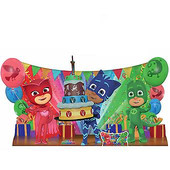 PJ Masks Birthday Party Group Catboy Gekko Owlette Cardboard Cutout / Standee