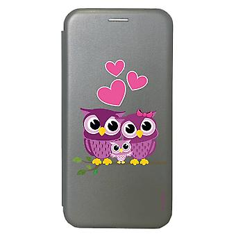 Case voor Samsung Galaxy S20 Grey Family Pattern Uil
