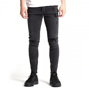 Kings Will Dream Junior Romer Superslim Stretch Black Wash Ripped Jeans J138