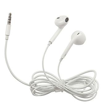 3.5mm Stereo Earphones w/ Microphone/Volume Control (White)