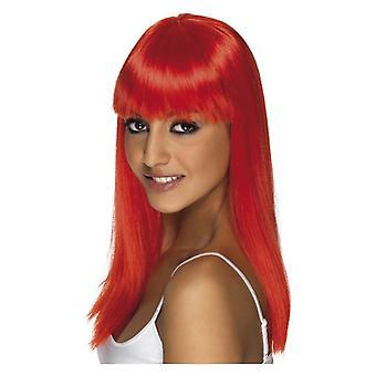 Akcesorium czerwone Kostiumy damskie Glamourama Wig
