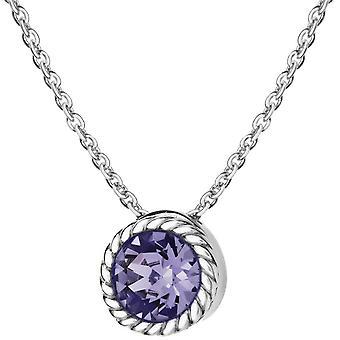 KJ Beckett December Birthstone Swarovski kristall halsband - Silver/lila lila
