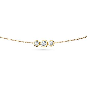 Body Chain Trilogy 18K Gold and Diamonds - Yellow Gold, Large