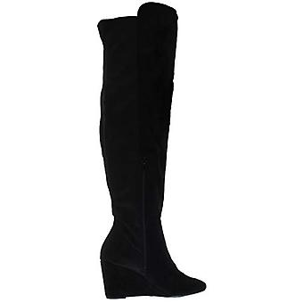 ZIGI SOHO Womens Heide Faux Suede Almond Toe Knee-High Boots