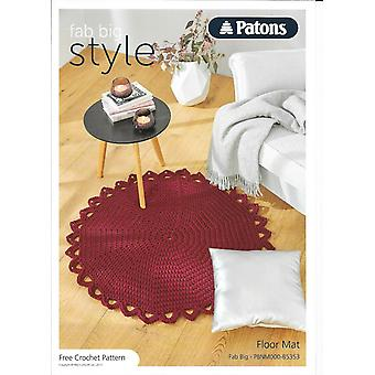 Patons - Fab Big Simple Super Chunky Crochet Floor Mat Pattern