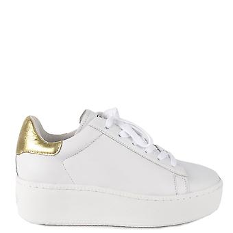Ash Footwear Cult White And Ariel Leather Trainers