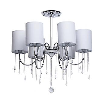 Chrome Ceiling Light Elegance 6 Bulbs 63 Cm