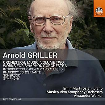 Griller / Musica Viva Symphony Orchestra - Orchestral Music 2 [CD] USA import