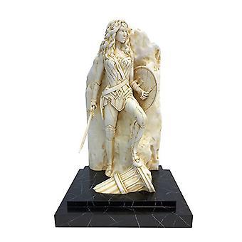 """Mulher Maravilha 14"""" Estátua de Belas Artes de Acabamento de Mármore"""