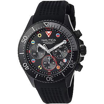 Nautica Watch NAPWPC003 - Rubber Gents Quartz Chronograph