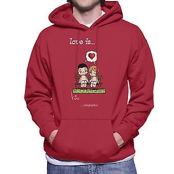 Love Is Telepathic Men's Hooded Sweatshirt