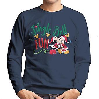 Disney Mickey et Minnie Mouse Jingle Bell Fun Homme-apos;s Sweatshirt