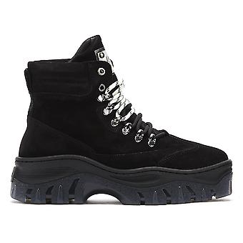 Bronx Jaxstar Womens Black Platform Hiker Boots