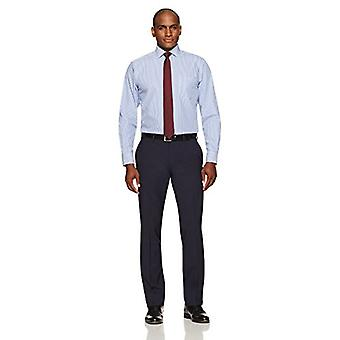 BUTTONED DOWN Männer's Klassische Fit Spread-Collar Nicht-Eisen Kleid Shirt, blau Beng...