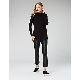 Brand - Daily Ritual Women's Supersoft Terry Long-Sleeve Hooded Pullover, Black, X-Small