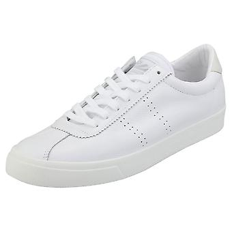 Superga 2843 Clubs Comfleau Mens Flatform Trainers in White
