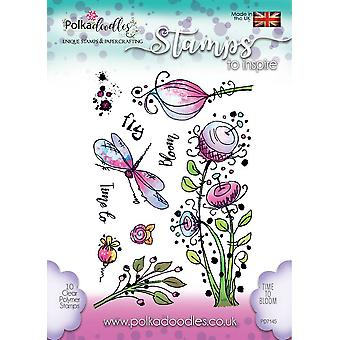 Polkadoodles Time To Bloom Clear Stamps