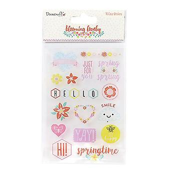 Dovecraft Dovecraft Blooming Lovely Clear Stickers