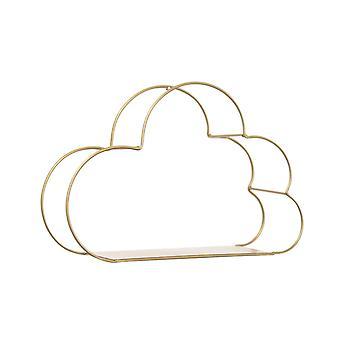 Cloud Shape Storage Wall Hanging Shelf Copper