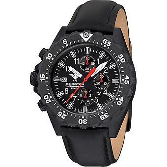 KHS - ساعة اليد - الرجل مطلق النار MKII كرونوغراف مع حزام جلدي- KHS. SH2CF. L