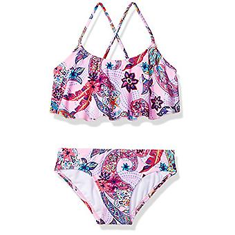 Kanu Surf Girls' Little Alania Flounce Bikini Beach Sport 2 Piece Swimsuit, M...