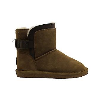 Bearpaw Women's Shoes Shantelle Suede Almond Toe Ankle Fashion Boots