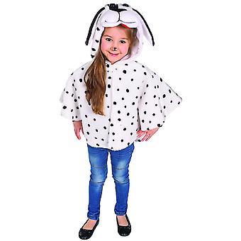 Dalmatiska Cape Dog Kids Kostym Dalmatian Kostym