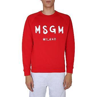 Msgm 2940mm10420759918 Herren's rotes Baumwoll-Sweatshirt