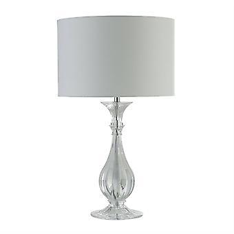 Searchlight Sanna - 1 Light Table Lamp, White Shade, E14