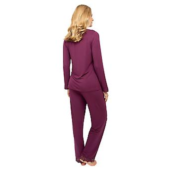 Cyberjammies Nora Rose Jennifer 1452 Frauen's lila stricken Pyjama Set